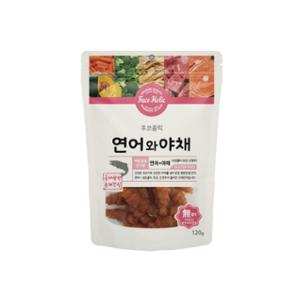 [10%리워드] 후코홀릭 수제간식 연어와야채 120g