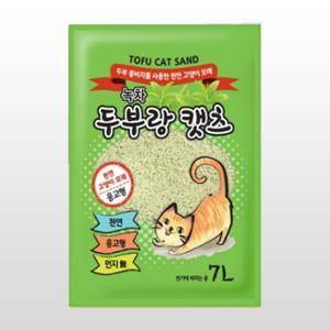 [10%리워드] 두부랑캣츠 이코노미 녹차 7L(2.8kg)
