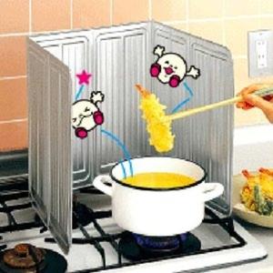 일본 주방 튀는기름 방지가이드(s0138)튀김요리기름차단막/오염방지막/가스렌지요리차단막