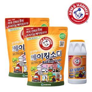 [유한양행] 암앤해머 내추럴쉐이커 400g + 베이킹소다(주방용) 1.5kg x 2