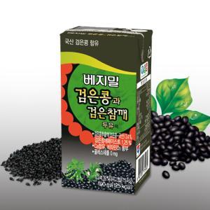 [정식품] 검은콩과검은참깨 베지밀 190ml×48팩