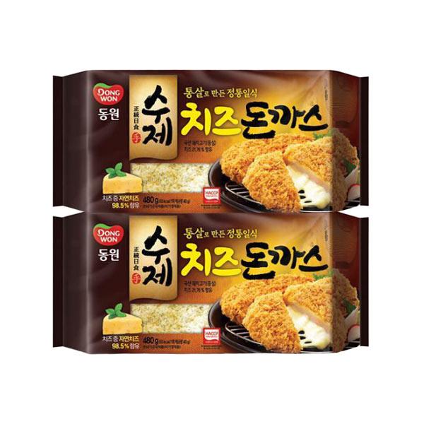 [동원] 수제 치즈 돈까스 480g(4입) x 2개