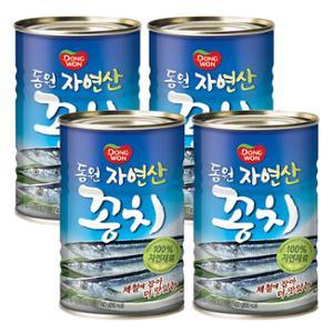 [동원] 제철에 잡아 더 맛있는 꽁치 400g*4캔