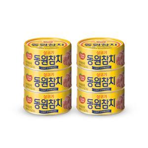 [동원] 라이트스탠다드 참치 100g*6캔 / 살코기참치