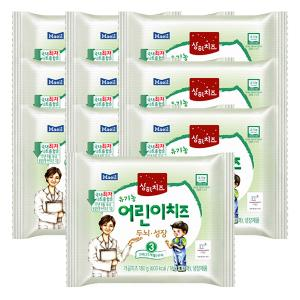 [매일 상하치즈] 3STEP 유기농 어린이치즈 3세(25개월)부터 180g(18gx10매)*10개