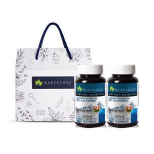 [메이플트리] 칼슘마그네슘아연+비타민D 90정X2병(6개월분) 선물세트 5호