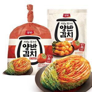 [동원]자연을 담그다 양반김치 포기김치 1.9kg+총각김치 500g _위메프 원더쇼핑
