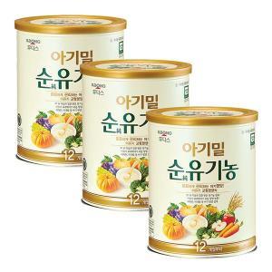 후디스 아기밀 순유기농 12개월부터 3캔 (540g)