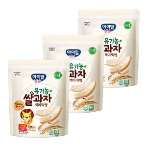 아이밀 냠냠 유기농쌀과자 백미떡뻥(30g)x3개