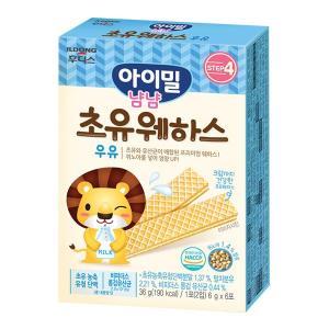 아이밀 냠냠 초유 웨하스 우유 36g(6g×6포)