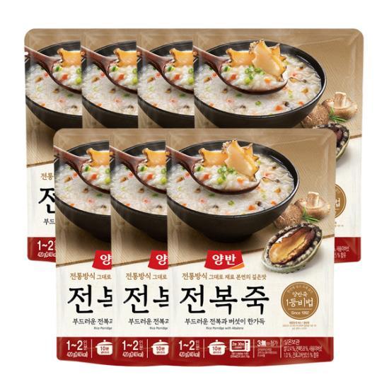 [동원] 양반 전복죽 420g ( 파우치죽 ) x 7개