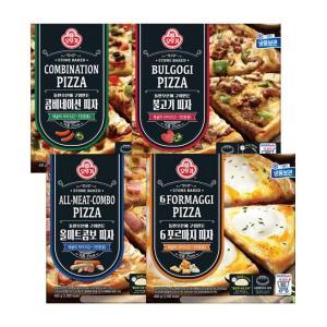[오뚜기] 피자 4판 ( 콤비네이션+불고기+올미트콤보+6포르마지 )패키지