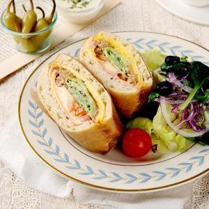 햄치즈 치아바타 샌드위치 & 샐러드 (한개)