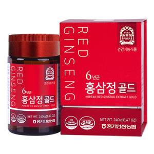 6년근 홍삼정 골드 240g(진세노사이드 1일 섭취량 19.5mg/3g)