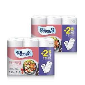 미래생활 잘풀리는집 키친타월 150매x4+2롤x2팩