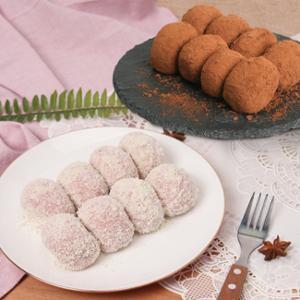 [헐레벌떡] 한입에 쏙 딸기 크림치즈모찌 40g 10개 + 쵸코크림모찌 40g 10개
