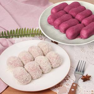 [헐레벌떡] 한입에 쏙 딸기 크림치즈모찌 40g 10개 + 고구마슈모찌 40g 10개