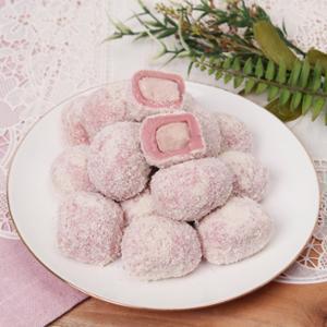 [헐레벌떡] 한입에 쏙 딸기 크림치즈모찌 40g 10개