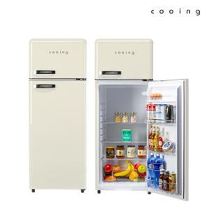 쿠잉 레트로 냉장고 REF-D215C 208L 소형/미니/2도어