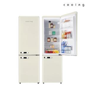쿠잉 레트로 냉장고 REF-C270C 251L 콤비/소형/투도어
