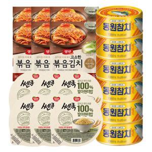 레트롯참치 135gx6캔+볶음김치 80gx6개+발아현미밥 195gx6개