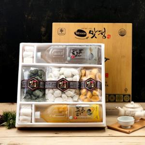 [맛정] 명품 송편 선물세트 (송편3종+식혜+소떡롤)