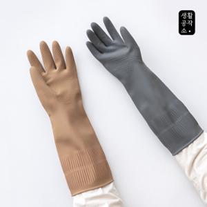 [생활공작소] 라텍스 고무장갑 밴드형(38cm) x 5입