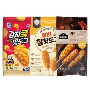 치즈크리스피(5개) + 감자콕(5개) + 찰핫도그(5개)
