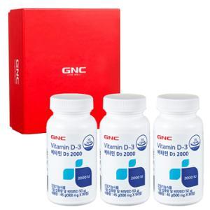 GNC 트리플 뼈건강 세트 [비타민D3 2000 (90) X 3개]