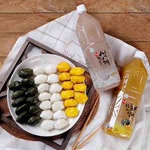 [맛정] 안쪄먹는 흰송편 1kg + 쑥송편 1kg + 호박송편 1kg + 식혜 2병(전통,호박)