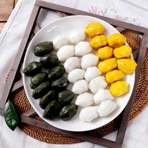 [맛정] 안쪄먹는 흰송편 1kg + 쑥송편 1kg + 호박송편 1kg