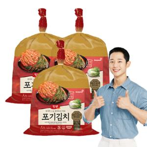 ★리뉴얼★[동원] 고급원재료로 만든 산지양반 포기김치 4kgX3개 (총 12kg)