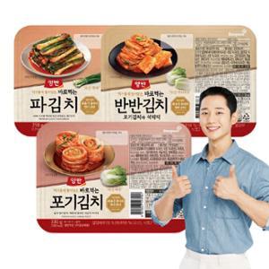 신규출시[동원] 양반 바로먹는 김치 캠핑팩(포기 1팩+반반 2팩+파 1팩)