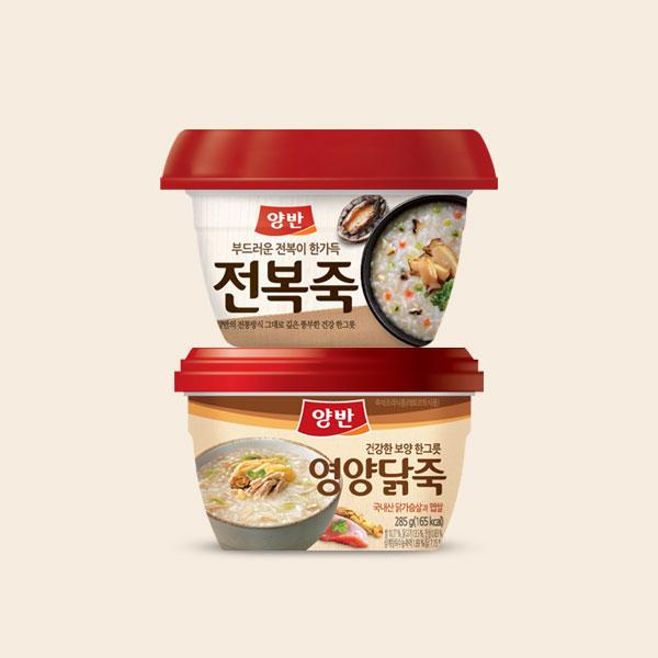 [양반] 전복죽 285gx10개 + 영양닭죽 285gx10개