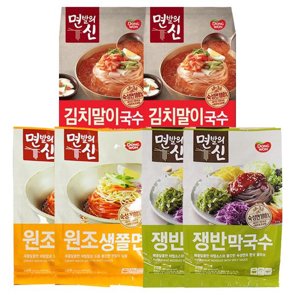 [동원] 면발의신 막국수 2봉+김치말이국수 2봉+쫄면 2봉