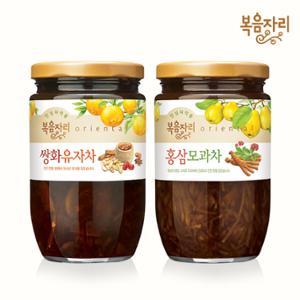 [복음자리]쌍화유자차480g+홍삼모과차470g